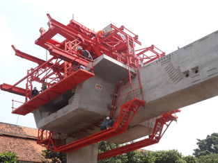 Custom Bridge Beam Segment Lifter With Electric Winches Technical Data
