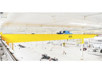 Warehouse Specialized Double Girder Hoist Crane 10 -50ton capacity in Yellow A5 work duty